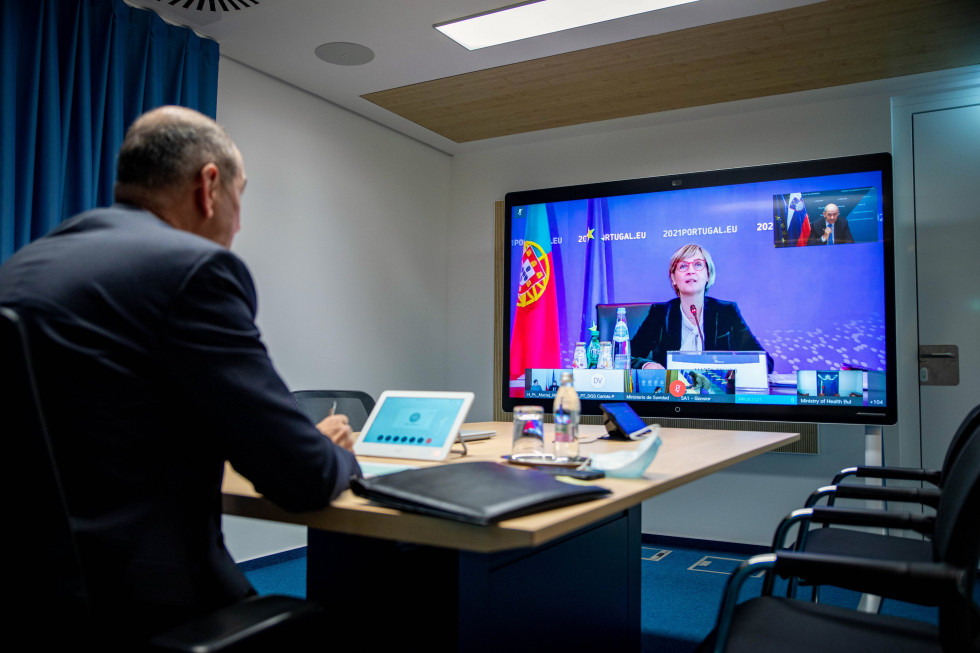 Prime Minister Janez Janša attended an informal video conference of EU health ministers