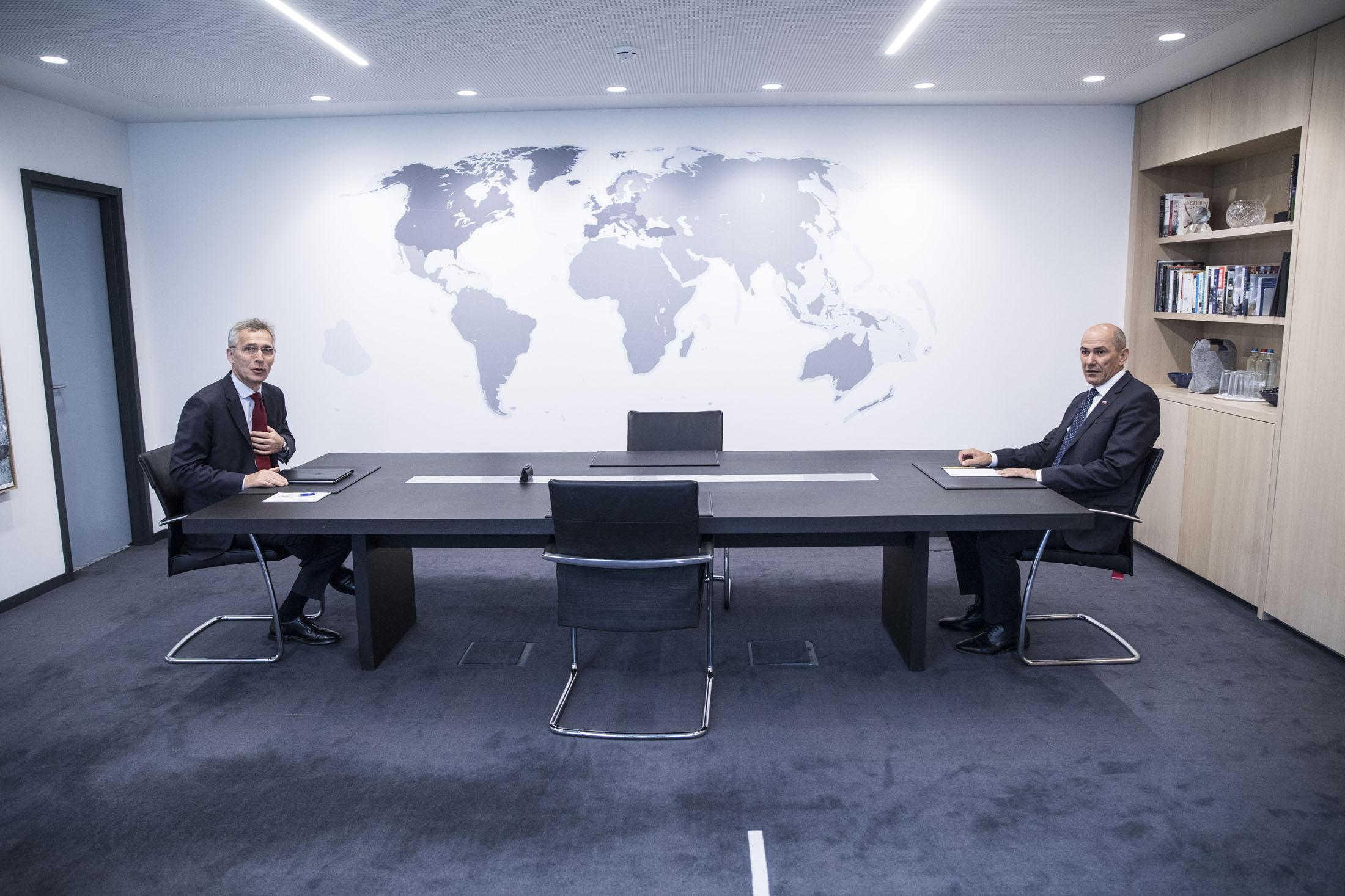Predsednik vlade Janez Janša na delovnem obisku v Bruslju