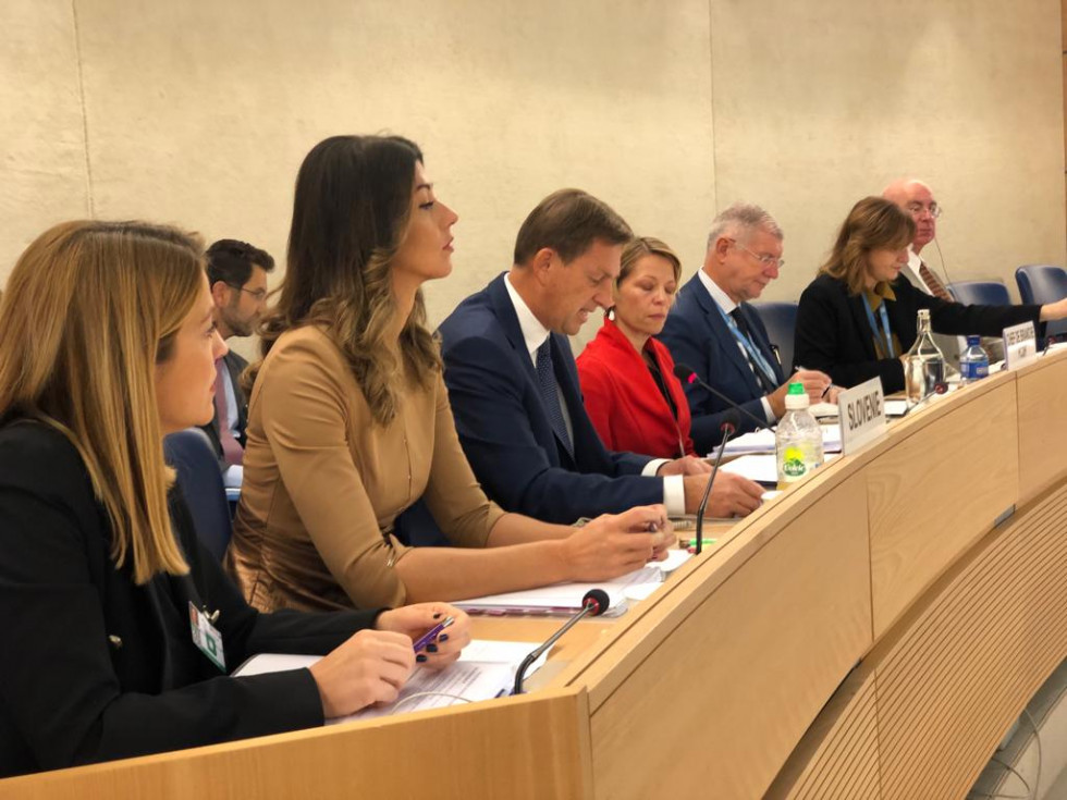 The Slovenian delegation, headed by Foreign Minister Dr Miro Cerar, also included the Deputy Head of  Delegation, State Secretary at the Ministry of Justice, Dr Dominika Švarc Pipan, and the State Secretary at the Ministry of Culture, Dr Tanja Kerševan Sm