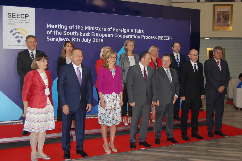 skupinska fotografija udeležencev zasedanja Procesa sodelovanja v Jugovzhodni Evropi (SEECP)