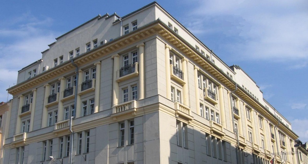 The building of the Ministry of Finance.