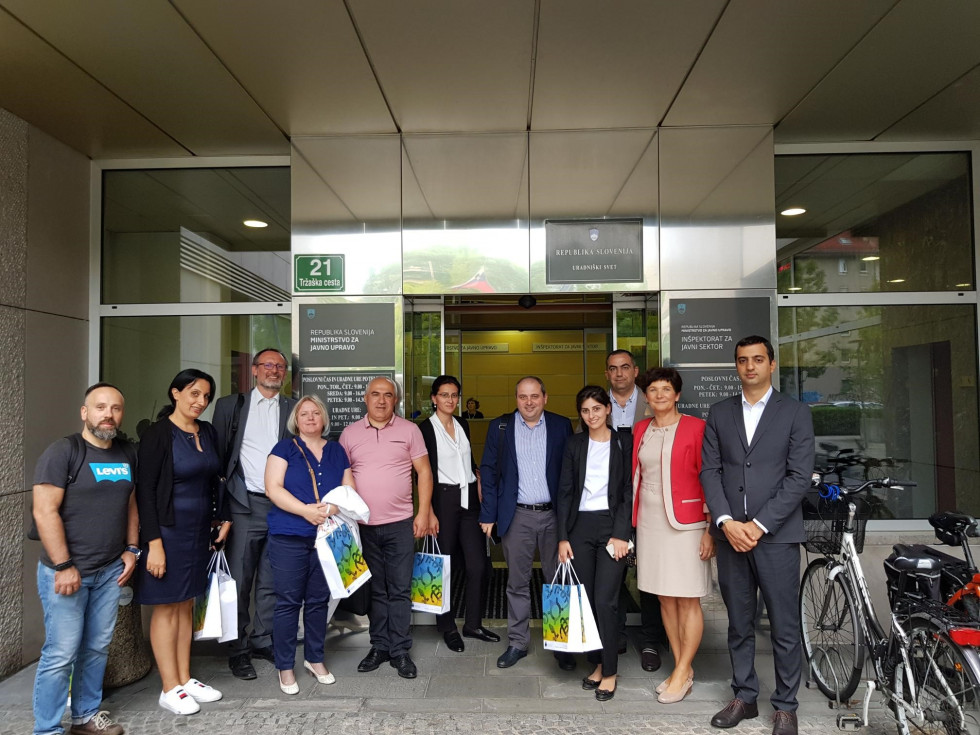 Armenian delegation on a study visit to Slovenia, group photography