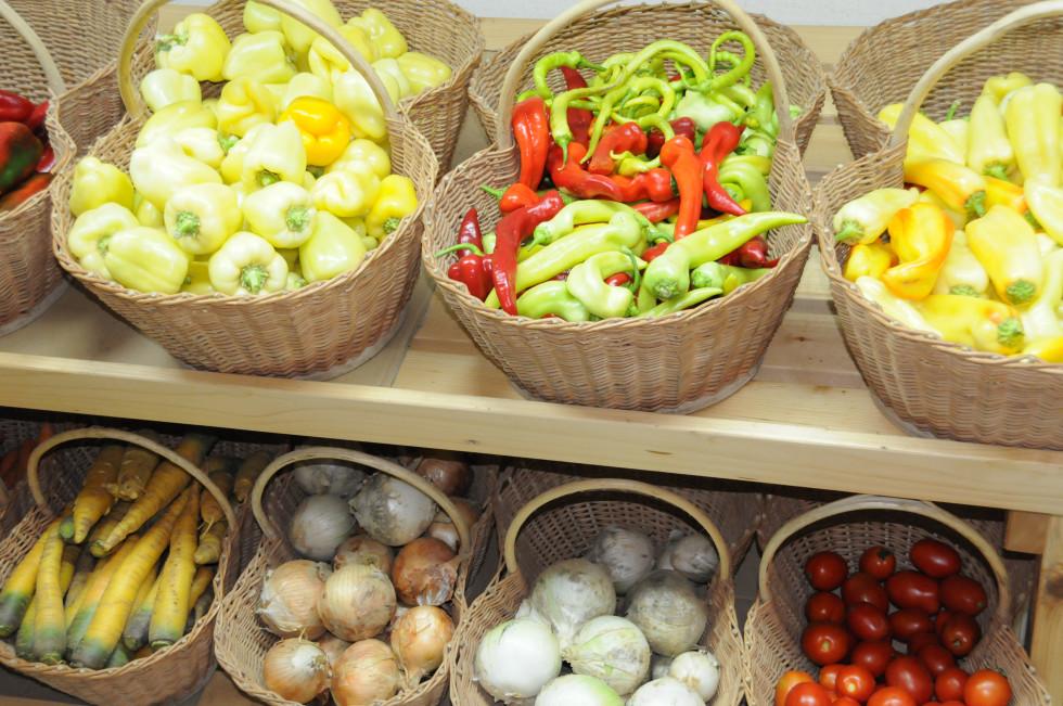 Zelenjava v košarah