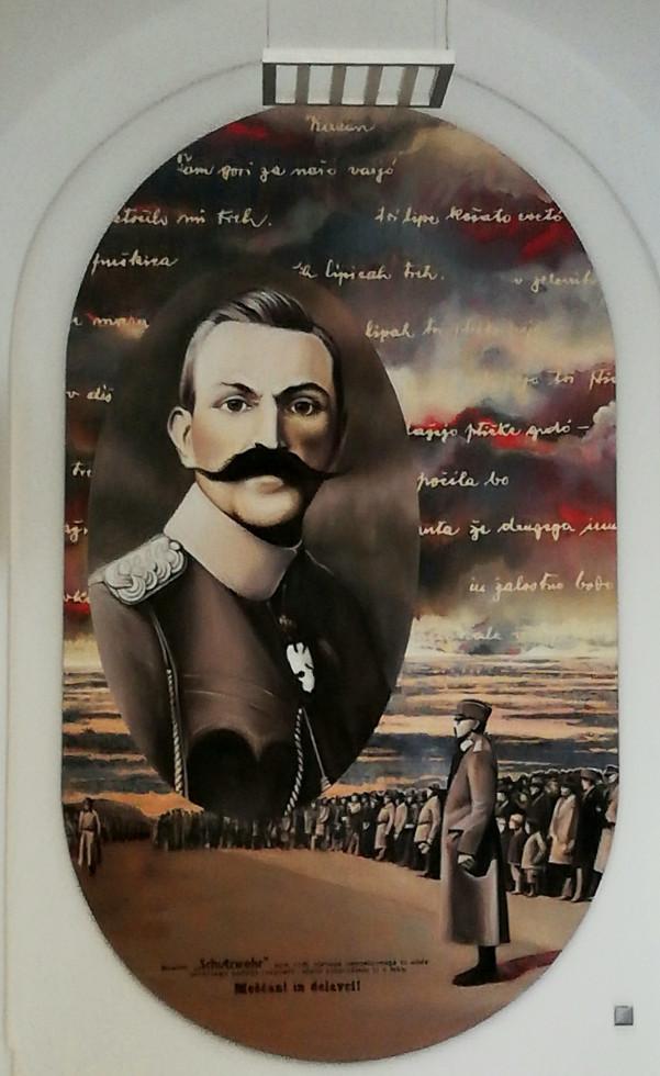 Portret generala Rudolfa Maistra v Mariborski Kadetnici, delo akademskega slikarja Dušana Fišerja
