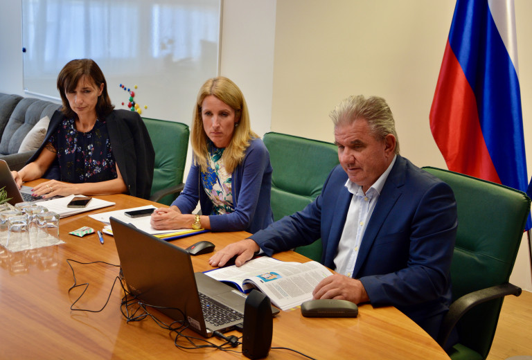 Environment Minister Andrej Vizjak in a videoconference: digital technologies can play an important role in sustainable EU transition