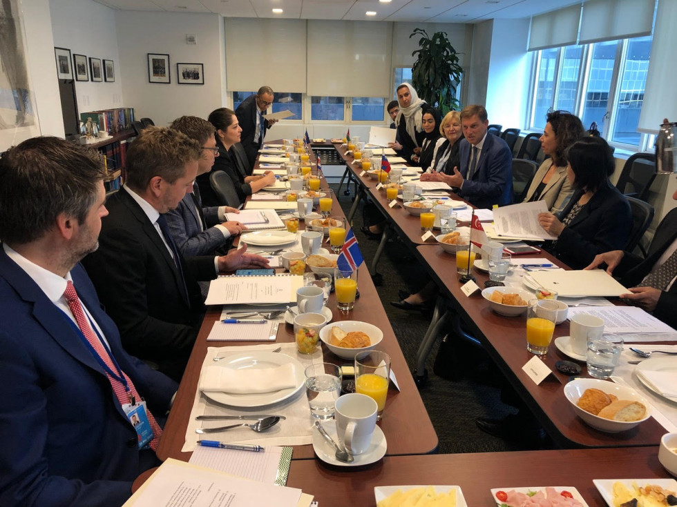 Working breakfast for ministers and senior representatives of the Green Group