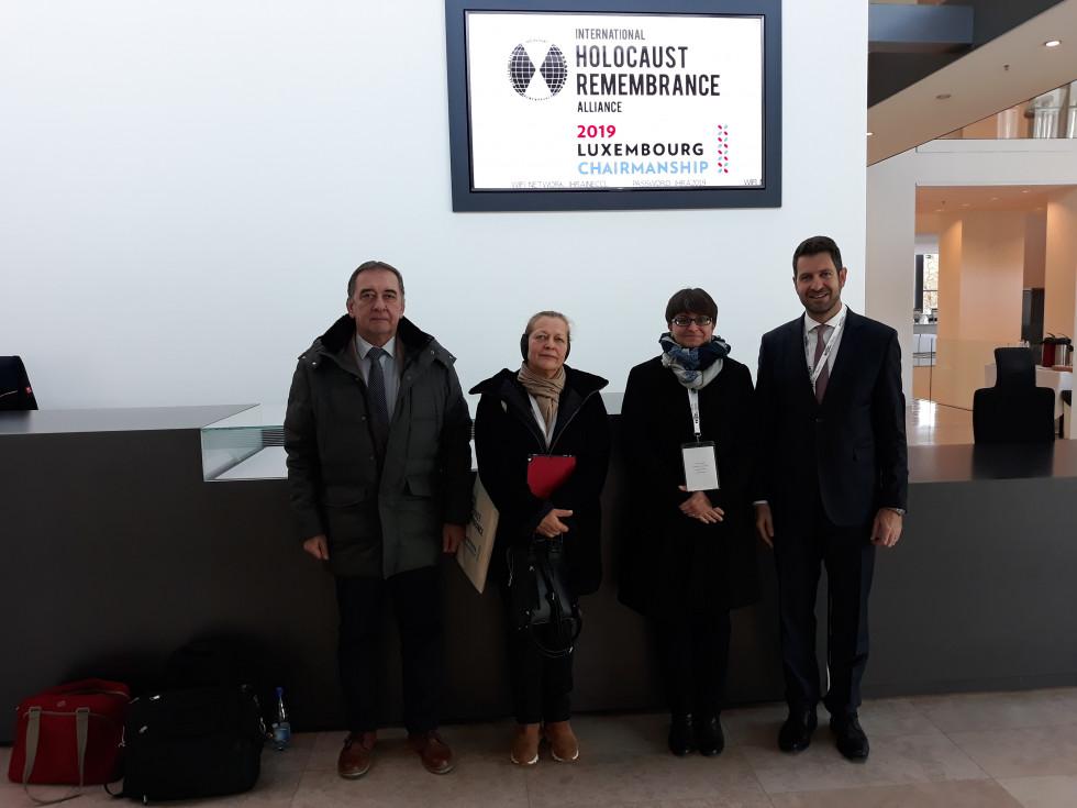 dr. Marko Rakovec, dr. Alenka Spreitzer Janko, dr. Irena Šumi in Vojko Kunaver (desna proti levi)