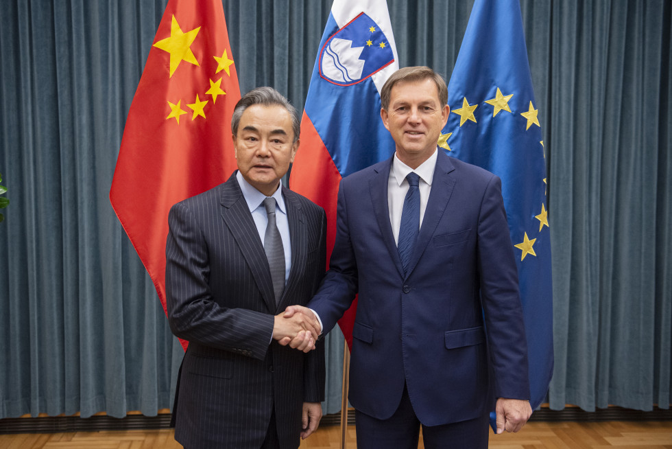 Foreign Minister Dr Miro Cerar and his Chinese counterpart, Wang Yi