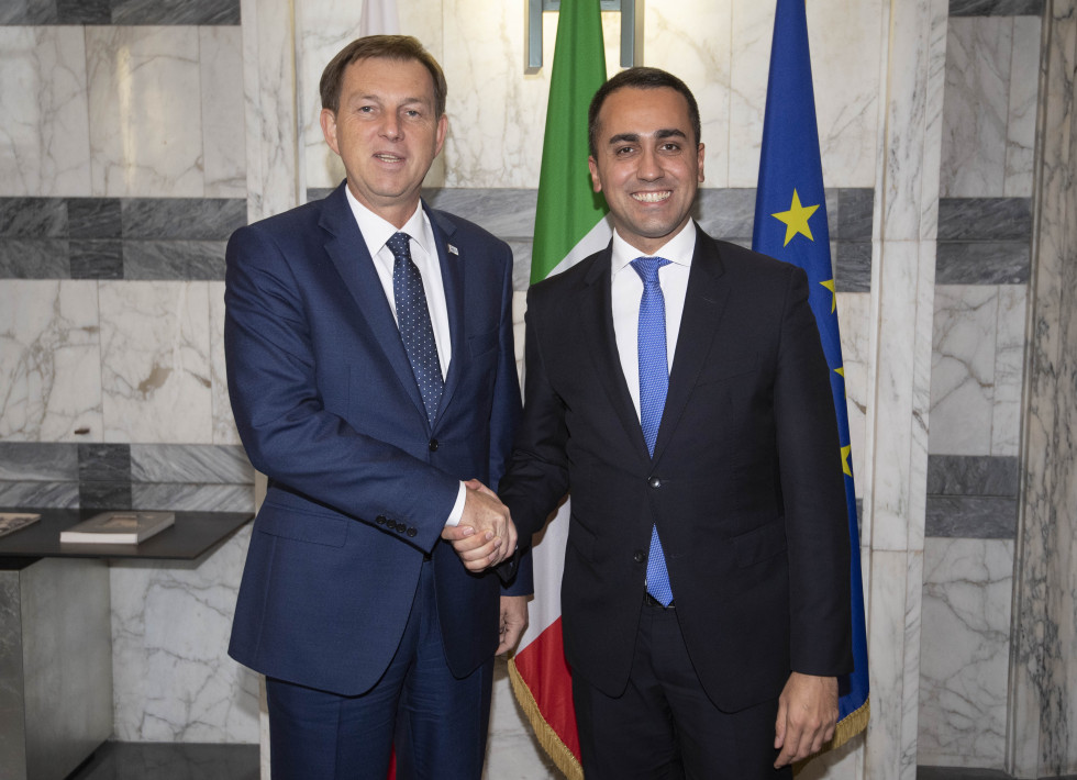 Foreign Minister Dr Miro Cerar and Italian Minister of Foreign Affairs and International Cooperation Luigi Di Maio