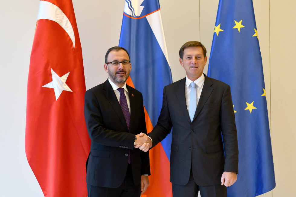 Slovenian Foreign Minister Dr Miro Cerar and Turkish Minister of Youth and Sports Dr Mehmet Muharrem Kasapoğlu
