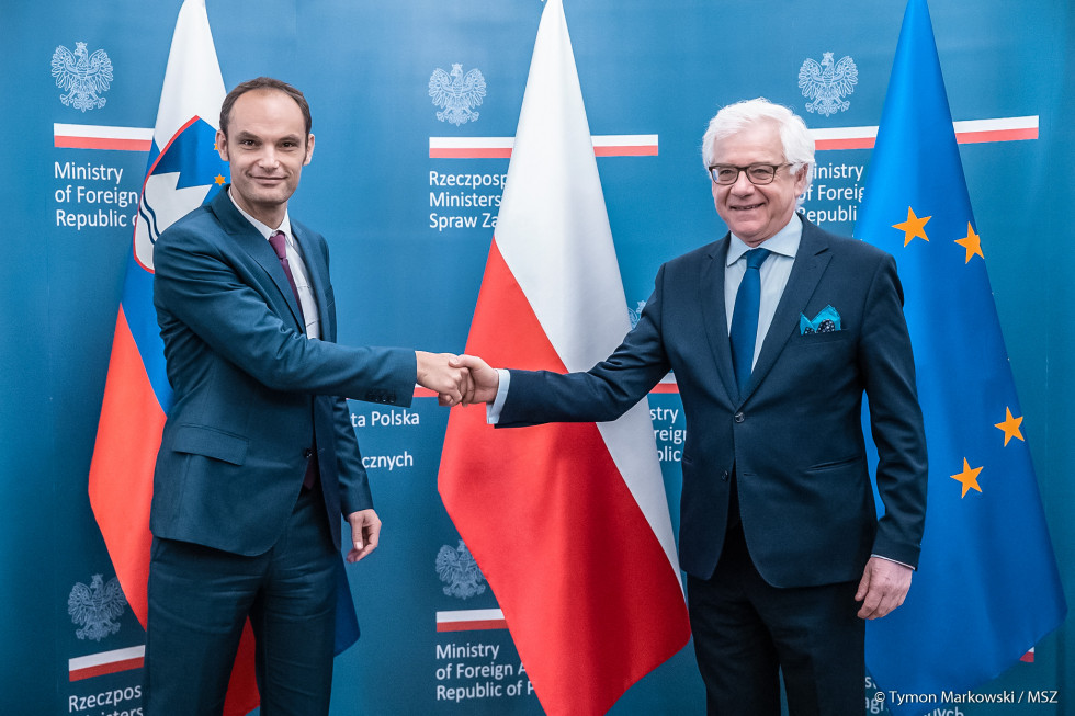 Minister of Foreign Affairs Dr Anže Logar and Poland's Minister of Foreign Affairs Dr Jacek Czaputowicz