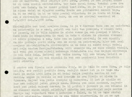 Fourth page of Janez Rus's Statement written in typescrit.