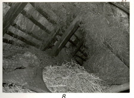 Hiding place of Janez Rus in the hay in his own stable.