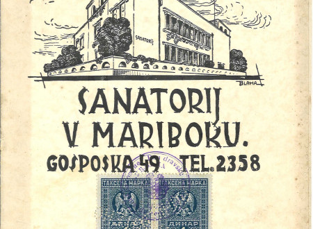 Cover of the advertising brochure of the Sanatorium in Maribor.