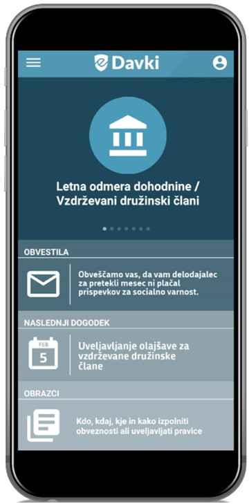 Mobilna aplikacija eDavki