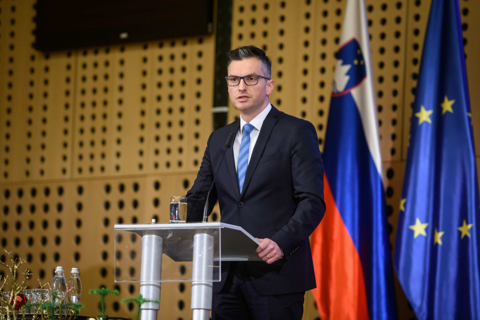 Prime Minister Marjan Šarec addressed attendees of the 2020 Statistical Day event at the Brdo Congress Centre