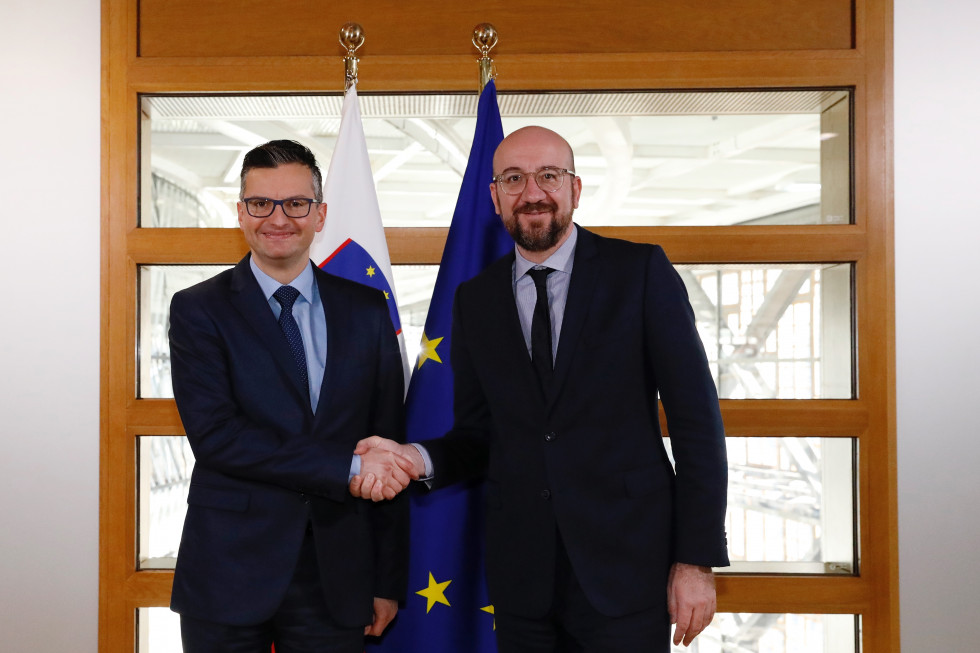 PM Marjan Šarec met with the President of the European Council, Charles Michel, in Brussels.