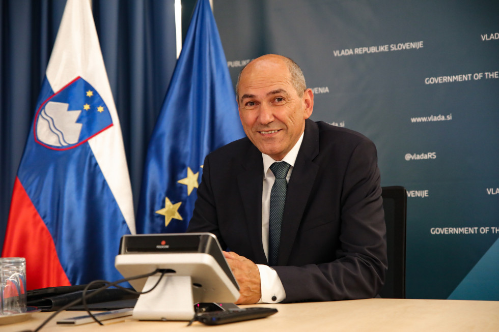 Prime Minister Janez Janša attended a video conference of the leaders of the EU Member States and six Eastern Partnership countries