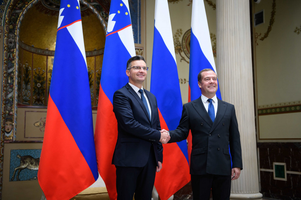 Slovenian Prime Minister Marjan Šarec on an official visit to Russia