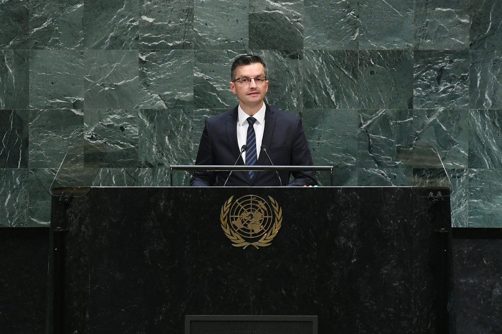 The Slovenian Prime Minister addressed the UN General Assembly at its 74th session