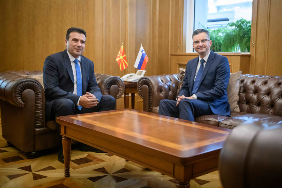 PM Marjan Šarec has paid  a return visit to Skopje at the invitation of North Macedonian PM Zoran Zaev.