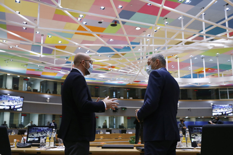 Prime Minister Janez Janša is attending a regular European Council meeting in Brussels