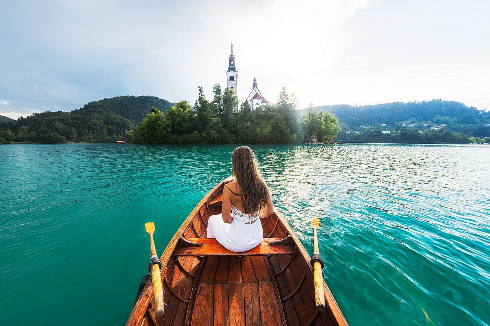 "The most photographed destination in the country is Lake Bled, which is described as a ""picture-perfect postcard"""