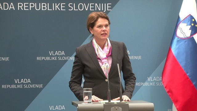 Minister of Infrastructure Alenka Bratušek in a statement after government session