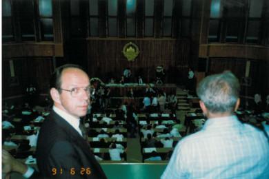 Razglasitev samostojne države Republike Slovenije v skupščini
