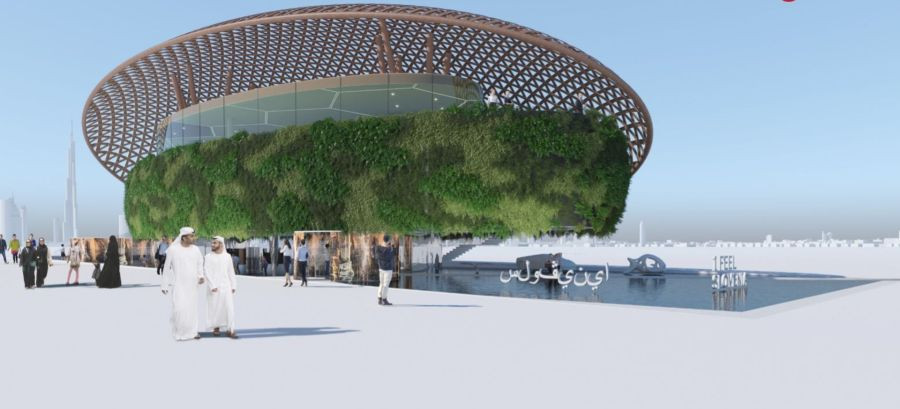 An illustrative display of the Expo exhibition centre in Dubai.