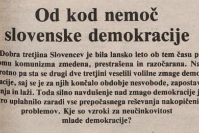 Uvod članka Od kod nemoč slovenske demokracije