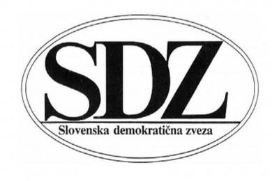 Logotip SDZ Slovenska demokratična zveza.