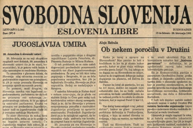 Cover of the weekly Svobodna Slovenija