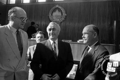 stojijo Živko Pregelj, Ante Markovič in France Bučar